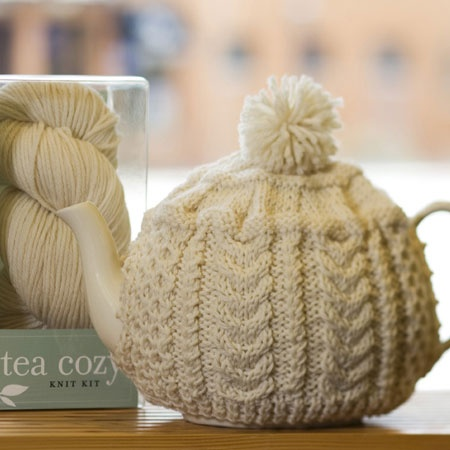 Small Tea Cosy Knitting Pattern : Handknit Aran Tea Cosies The Donegal Shop